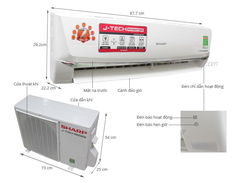 Cách sử dụng máy lạnh Sharp Inverter 1.5 HP AH-X12SEW