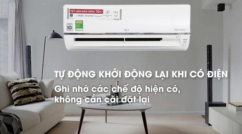 Chế độ tự động khởi động lại khi có điện của máy lạnh LG