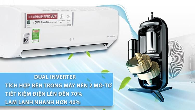 Máy lạnh LG INVERTER 2HP V18ENF được nhiều người tin dùng