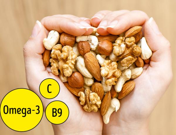 Quả hạch rất giàu axit béo omega-3, kẽm và vitamin E
