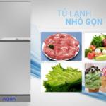 Tủ Lạnh Aqua AQR-125EN-SS 123 lít diệt khuẩn và khử mùi hiệu quả với công nghệ Nano Fresh Ag+