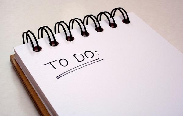 viết ra những việc cần làm