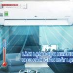 Máy lạnh LG Inverter 2 HP V18ENF làm lạnh cực nhanh và phù hợp với không gian rộng