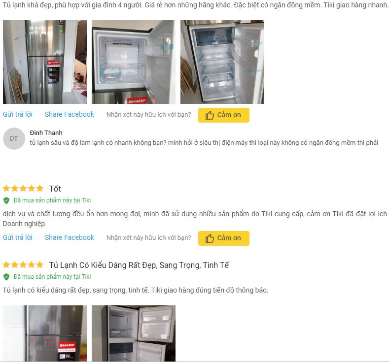 Đánh giá Tủ Lạnh Inverter Sharp SJ X346E