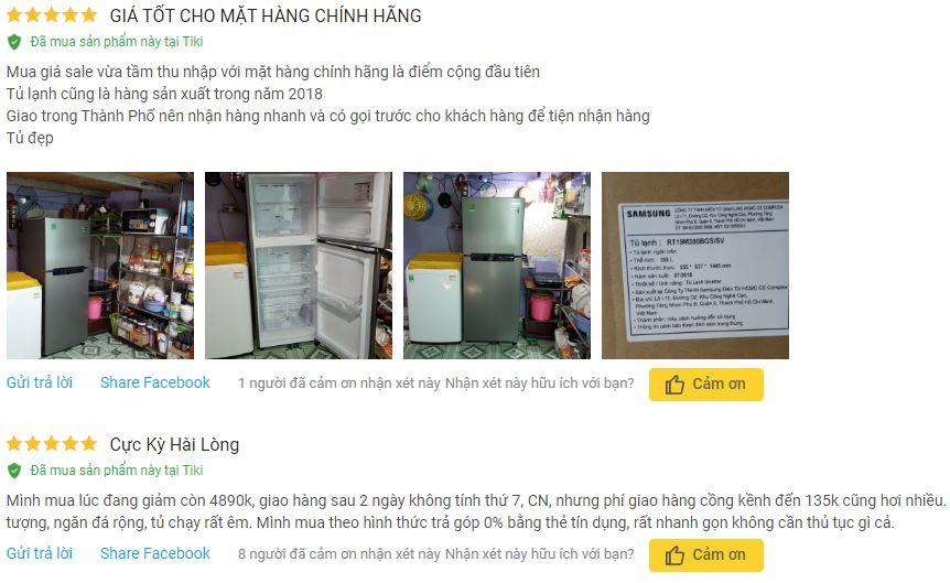 Đánh giá tủ lạnh tủ lạnh Samsung RT19M300BGS SV