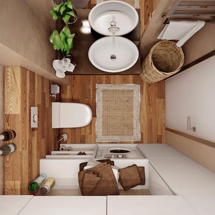Phòng tắm theo Angelina Alekseeva, Tối giản