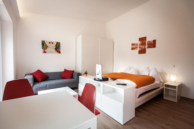 Phòng ngủ theo Florian Schober Architektur ZT, Hiện đại