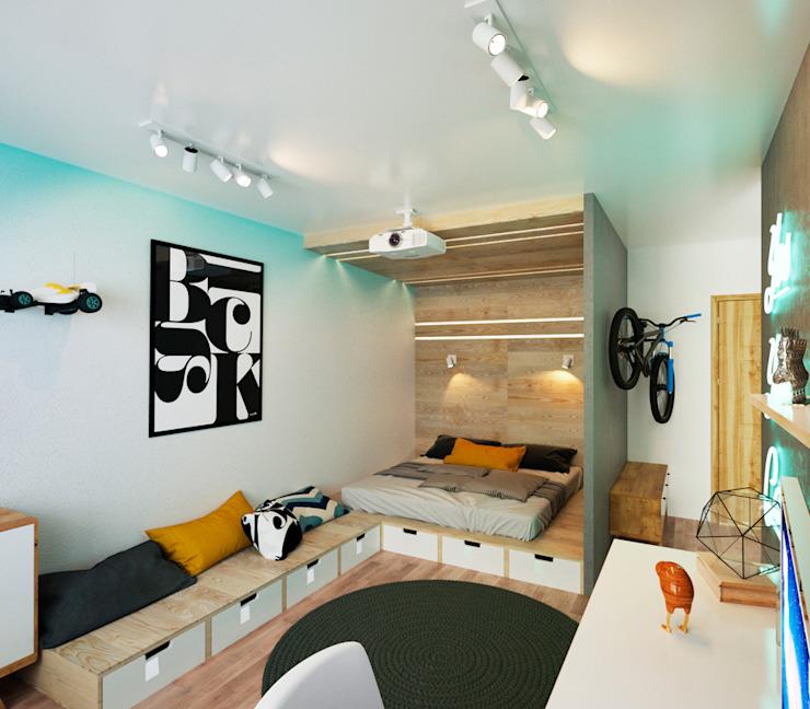 Phòng ngủ theo IK-architects, Tối giản