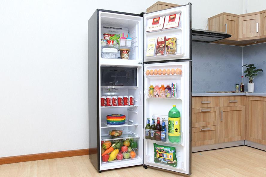 Ngăn chứa Tủ Lạnh Inverter Sharp SJ-X251E 224 lít