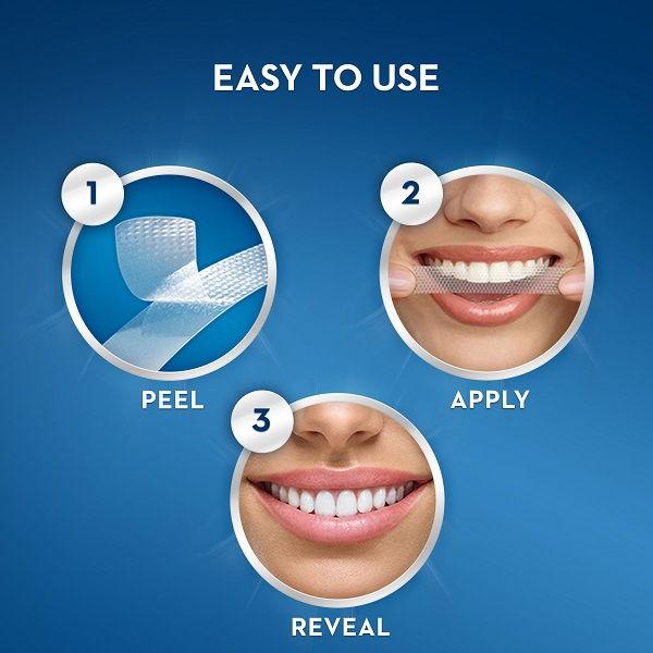 Cách sử dụng miếng dán tẩy trắng răng