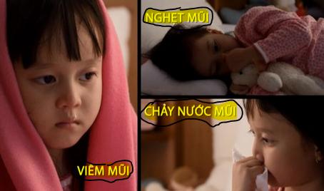 Viêm xoang mũi làm trẻ khó chịu