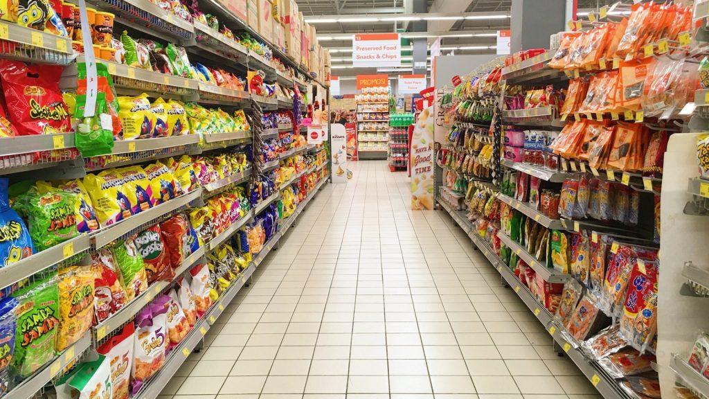 Diện tích siêu thị rộng lớn