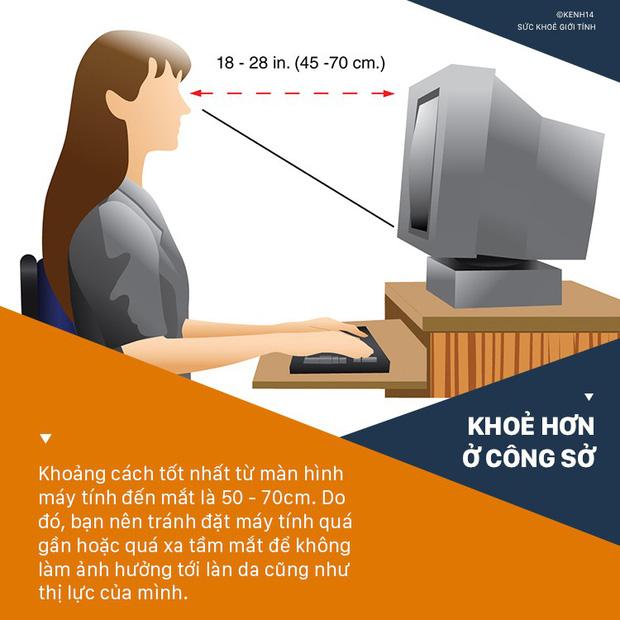 Giữ khoảng cách với máy tính