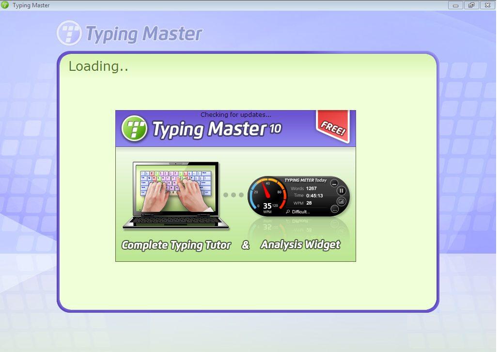 Giao diện đầu tiên của typing master