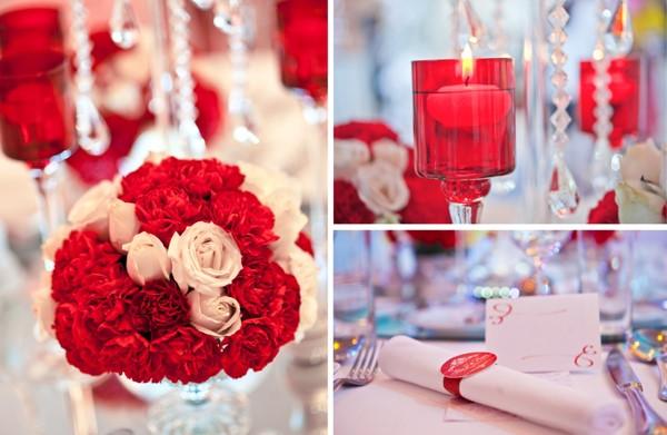 Hoa, nến, quà cho khách hai bên họ hàng
