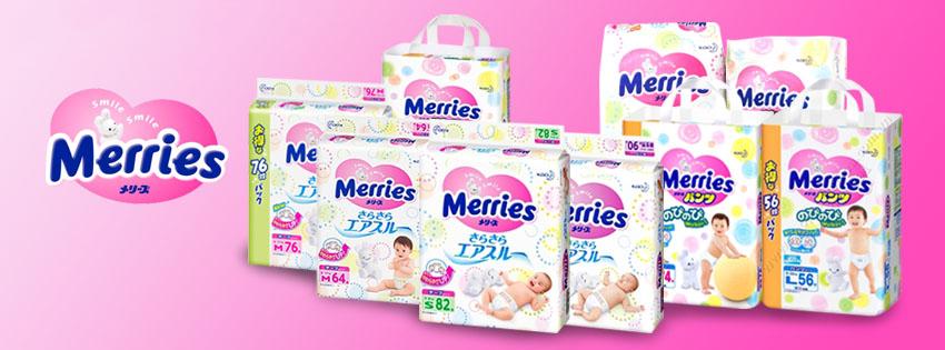 Bỉm Merries của Nhật Bản