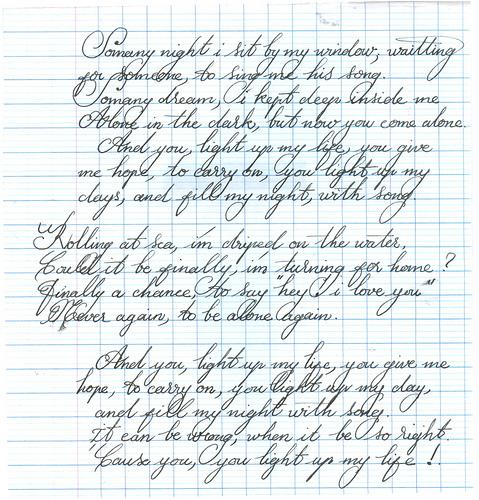 Nét chữ viết gầy dài