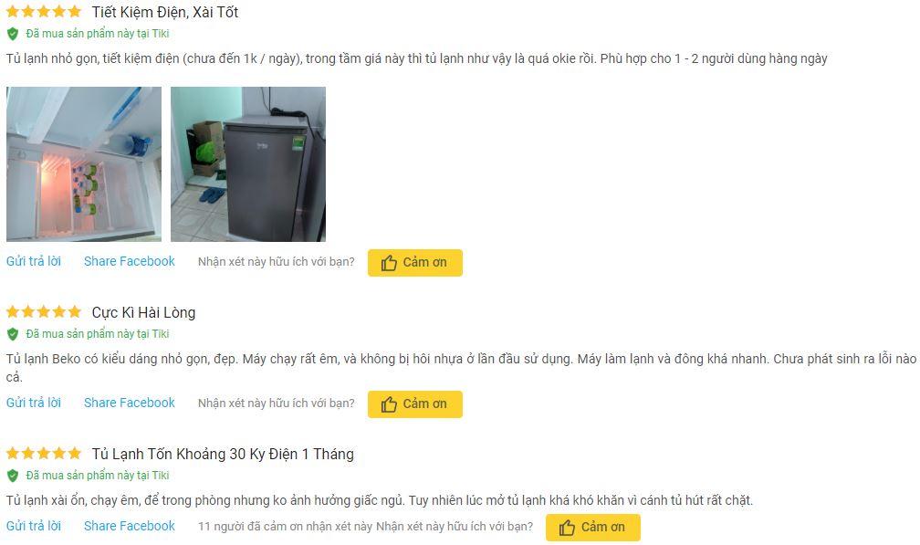 Nhận xét Tủ Lạnh Beko RS9050P 90l