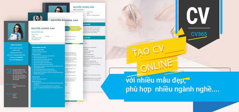 Tạo CV online trên timviec36