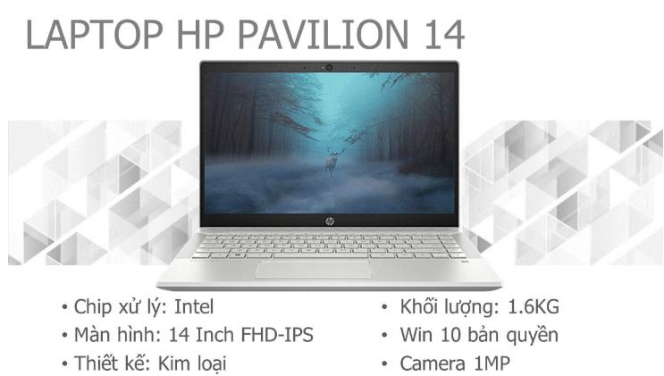 Thông số kỹ thuật HP Pavilion màu bạc