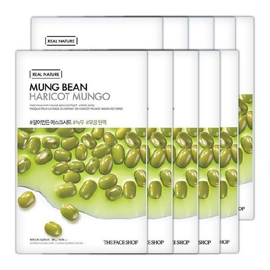 The Face Shop Real Nature Mask Mung Bean