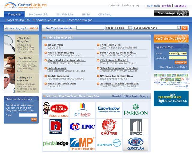 Trang hỗ trợ tìm việc Careerlink.vn