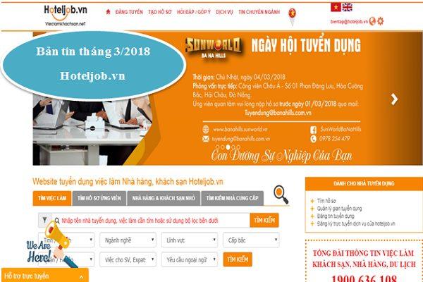 Trang hỗ trợ tuyển dụng hoteljob.vn