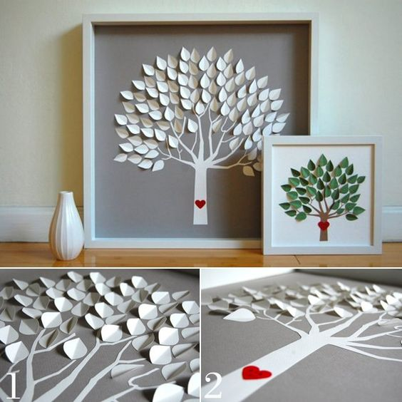 Trang trí bằng tranh làm từ giấy độc đáo