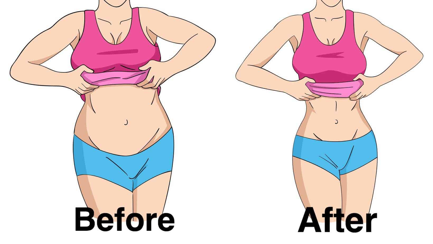 before after weight loss planking