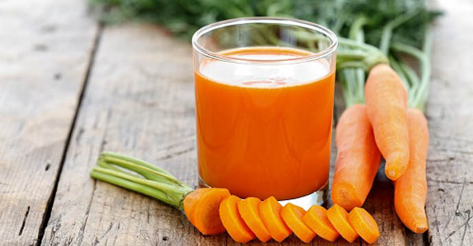 Carrot juice sinh to ca rot