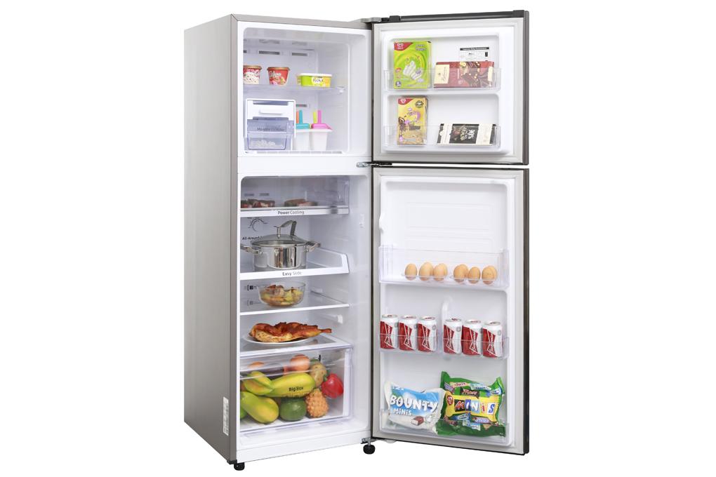 Bên trong tủ lạnh Samsung RT22M4032DX/SV 236 lít