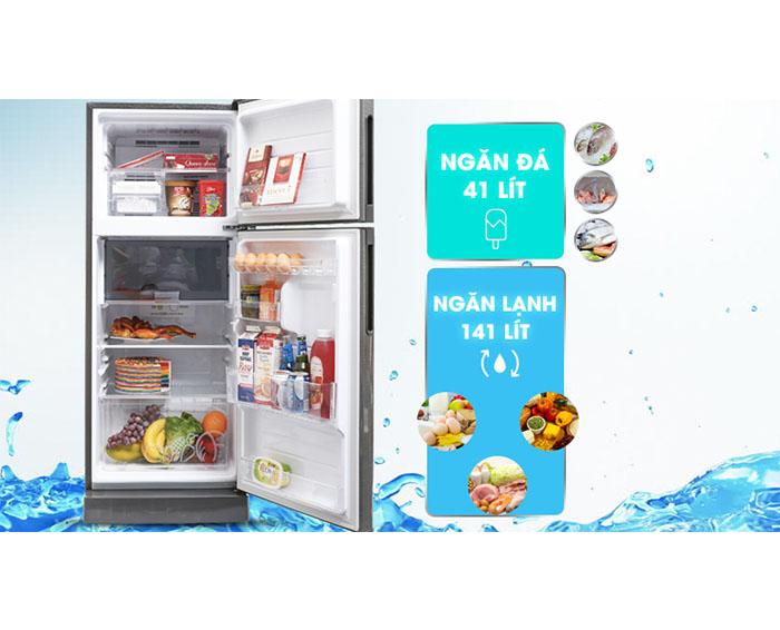 Ngăn chứa tủ lạnh Sharp SJ-X201E-SL 182 lít