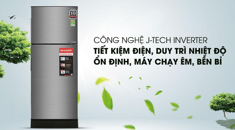 Tủ lạnh Sharp SJ-X201E-SL 182 lít giá rẻ