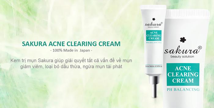 kem tri mun sakura acne clearing cream hoaanhdaovn