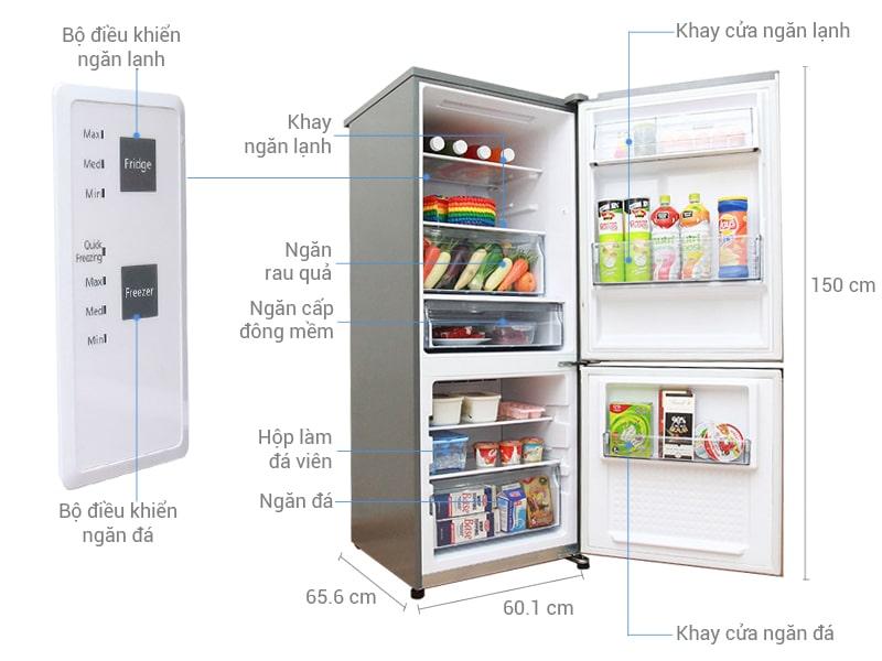 Cấu tạo của một chiếc tủ lạnh thông thường