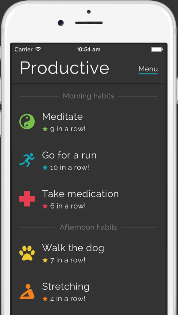 productive home nền tảng IOS