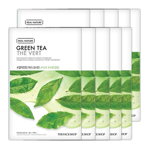 real nature green tea mask sheet.2017