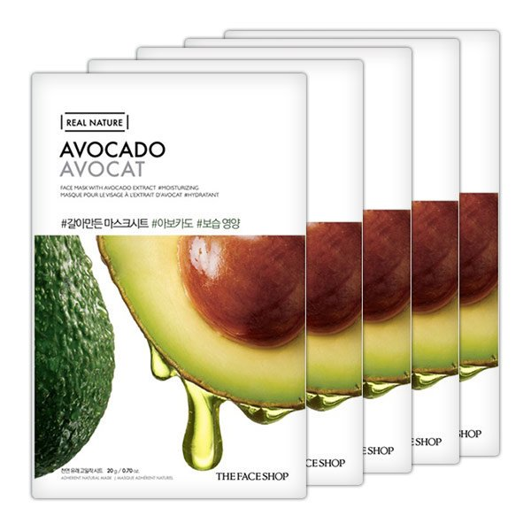real nature mask sheet avocado.2017