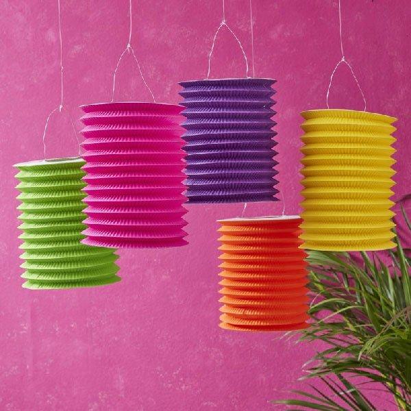 Đèn lồng handmade từ giấy nhún