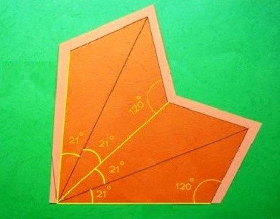 Vẽ 4 hình tam giác bằng nhau