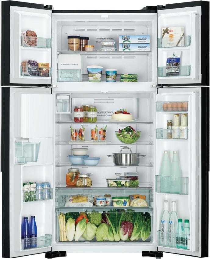 Bên trong Tủ lạnh Hitachi R-FW690PGV7-GBK