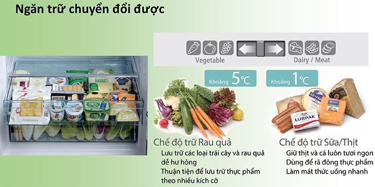 Ngăn trữ tủ lạnh Hitachi R-FW690PGV7-GBK