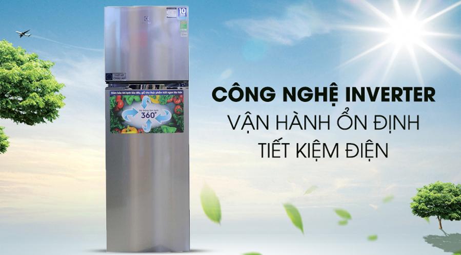 Tủ Lạnh Inverter Electrolux ETB3700H 350L lít