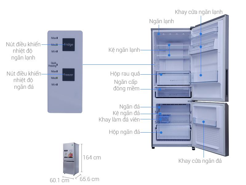 Thông số kỹ thuật: Tủ lạnh Panasonic