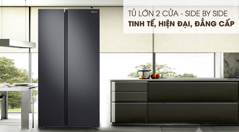 Tủ lạnh Samsung Inverter RS62R5001B4-SV 647 lít