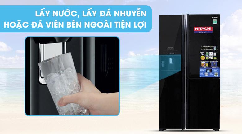 Làm đá tự động Tủ lạnh Hitachi R-M700GPGV2