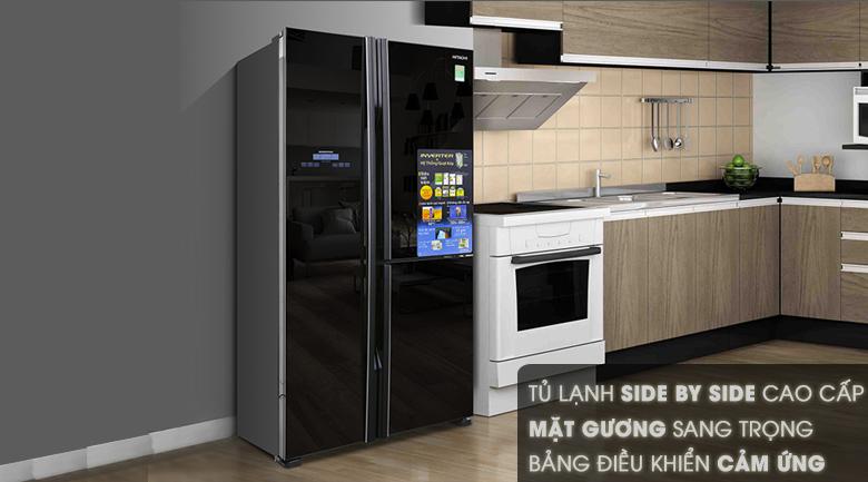 Tủ lạnh side by side Hitachi R-M700GPGV2 584 lít