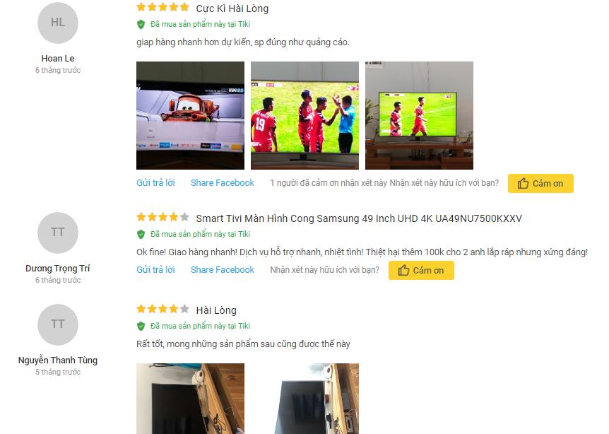 Đánh giá Smart Tivi Cong Samsung 4K 49 inch UA49NU7500