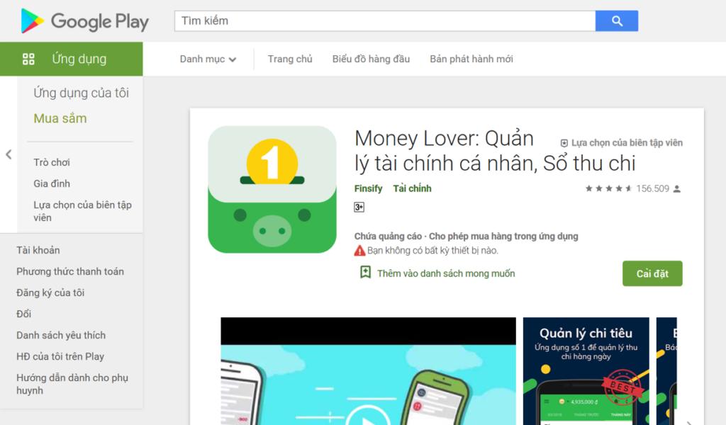 Ứng dụng Money lover