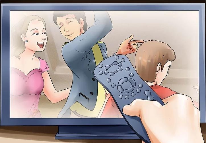 Dùng điều khiển từ xa để bật TV